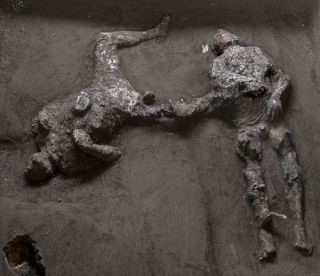 Newfound corpses at Pompeii were a master and servant who died together