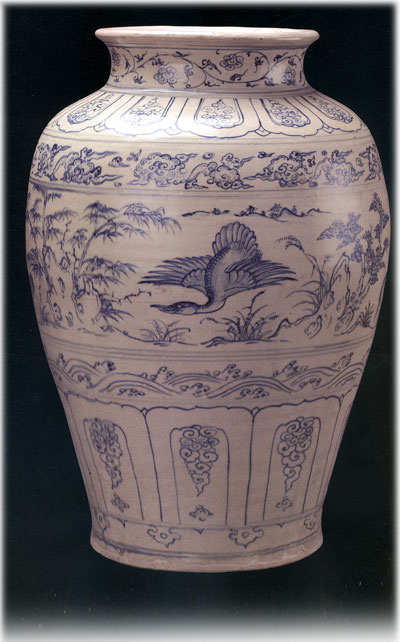 Pottery jar with swan patterns (Lsb.24539)