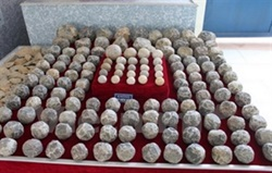 Large cluster of ancient stone shot discovered in Thanh Hoa