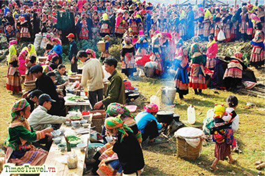 Bac Ha market in the early days of the lunar New Year