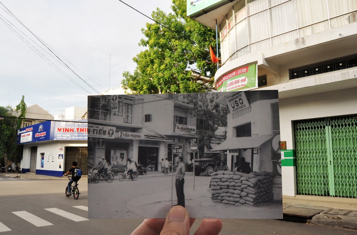 Amazing photographs juxtapose Vietnam yesterday and today
