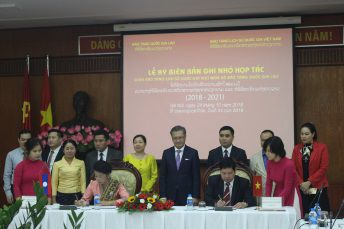 Signing ceremony of the memorandum of understanding between VNMH and National Museum of Laos