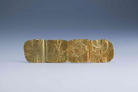 Gold foil with decoration