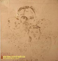 "The Painting ""President Ho Chi Minh and children from the North, the Centre and the South"""
