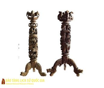 Pair of lampstands