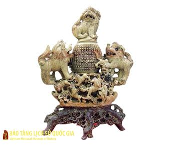 Lion-shaped incense burner